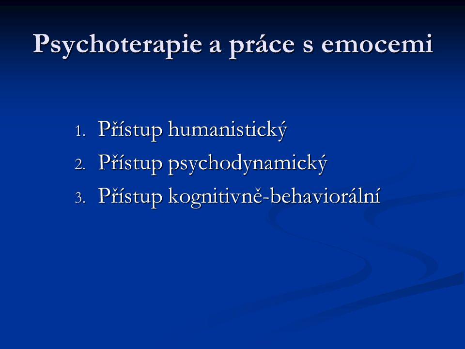 Psychoterapie a práce s emocemi