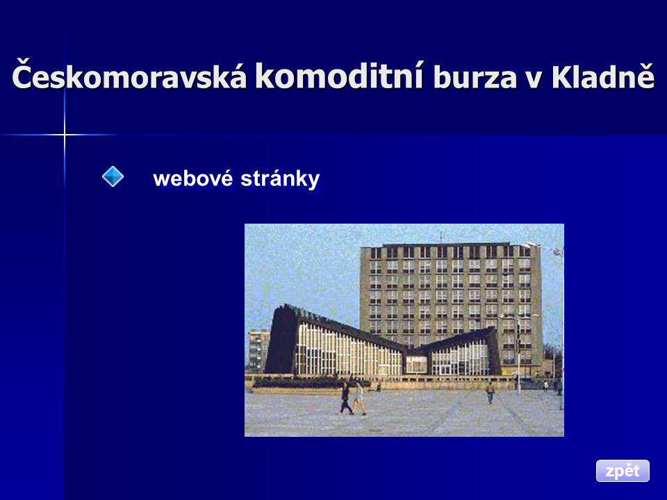 Českomoravská komoditní burza v Kladně