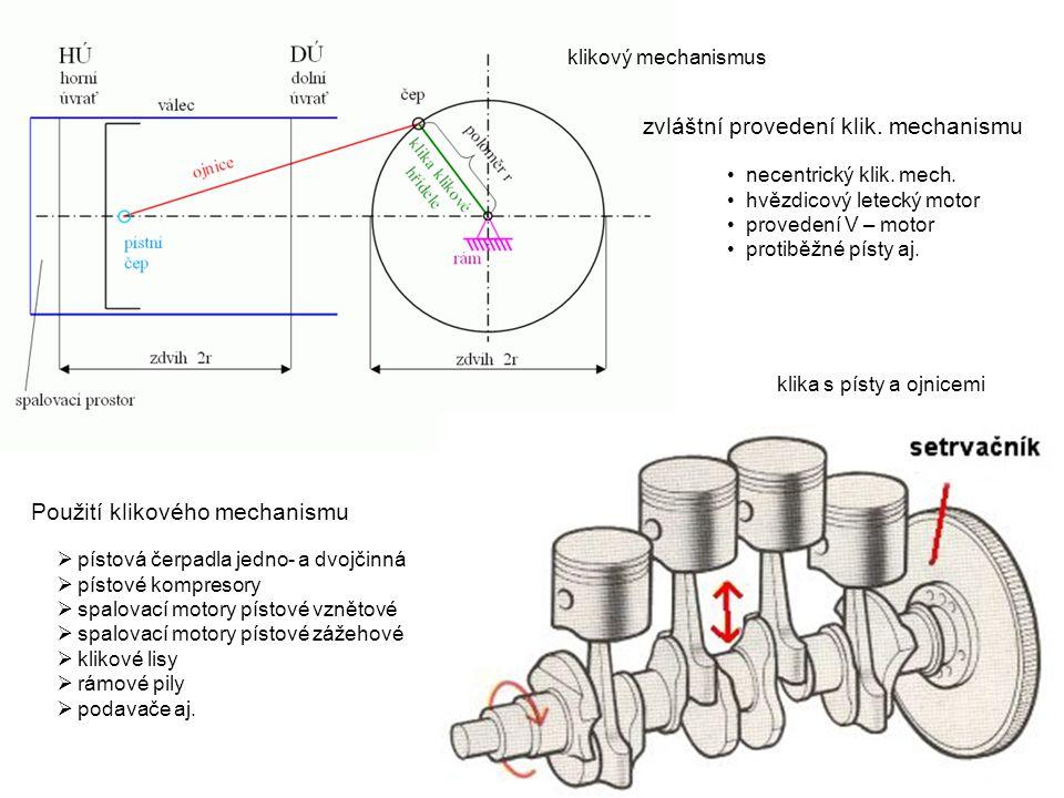 zvláštní provedení klik. mechanismu