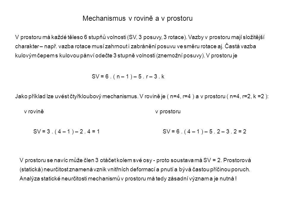 Mechanismus v rovině a v prostoru