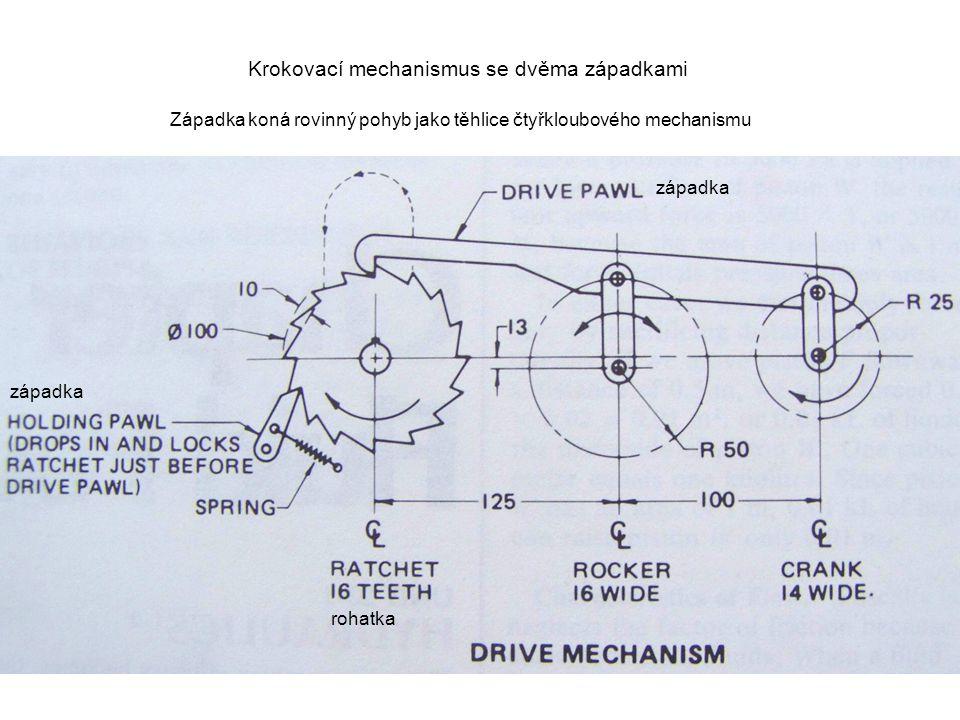 Krokovací mechanismus se dvěma západkami