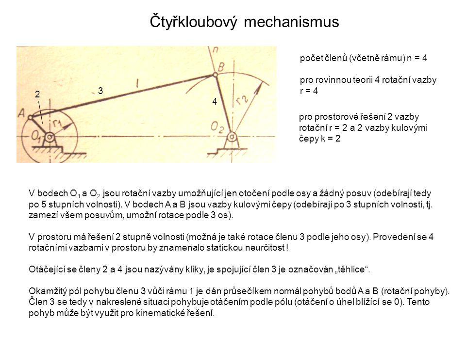 Čtyřkloubový mechanismus