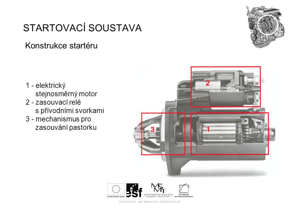 STARTOVACÍ SOUSTAVA Konstrukce startéru 1 - elektrický