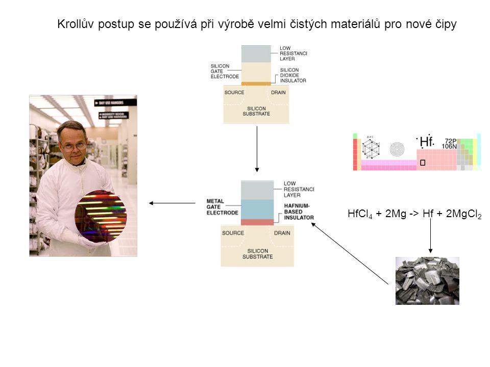 Krollův postup se používá při výrobě velmi čistých materiálů pro nové čipy