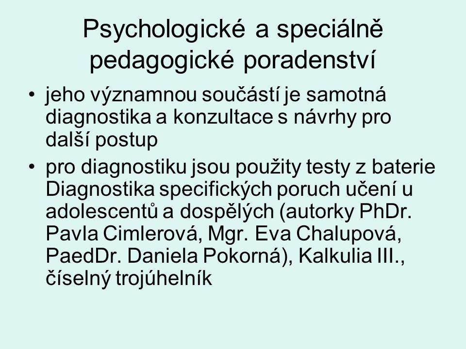 Psychologické a speciálně pedagogické poradenství