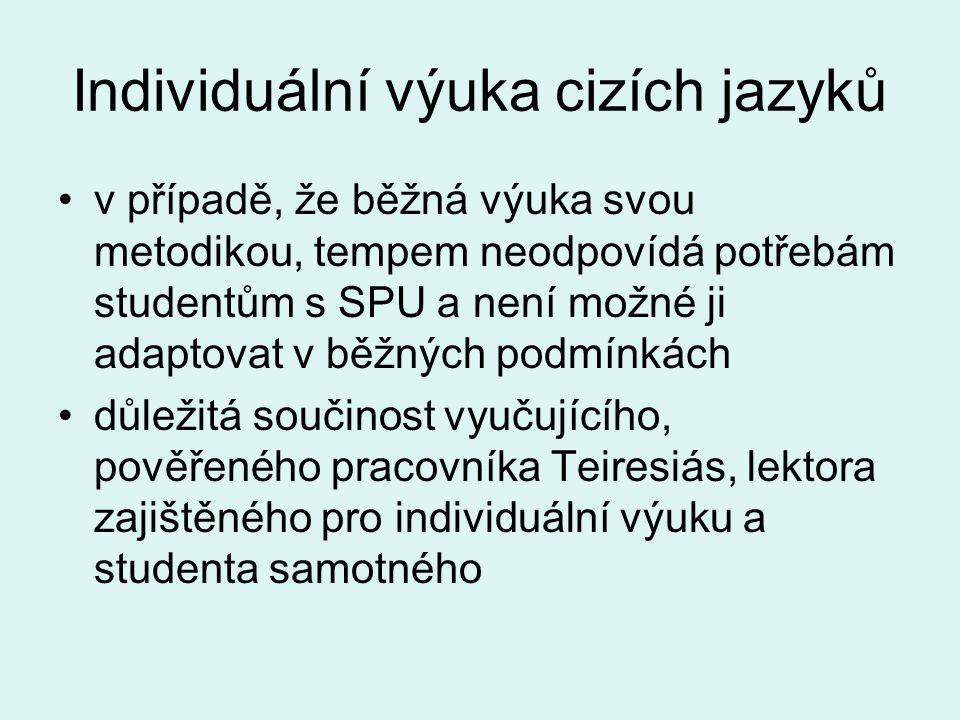 Individuální výuka cizích jazyků