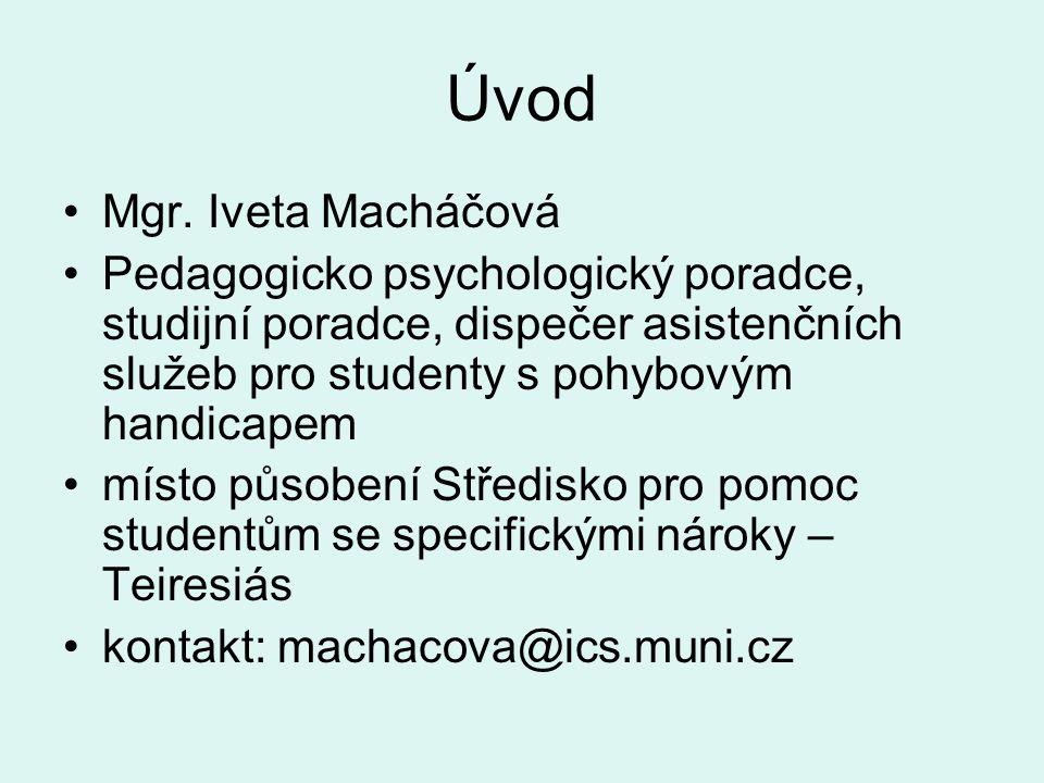 Úvod Mgr. Iveta Macháčová