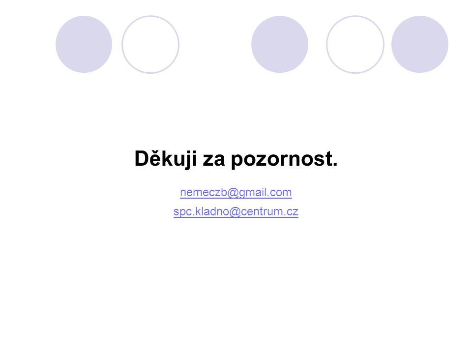 Děkuji za pozornost. nemeczb@gmail.com spc.kladno@centrum.cz