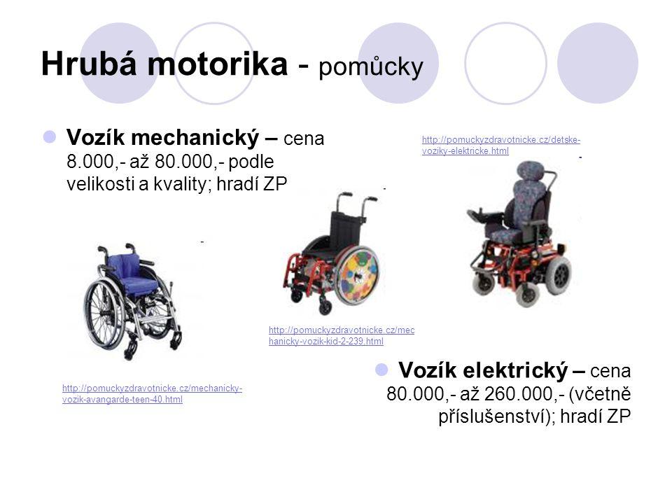 Hrubá motorika - pomůcky