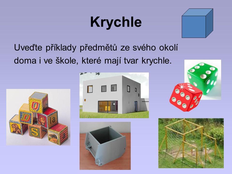 Krychle Uveďte příklady předmětů ze svého okolí