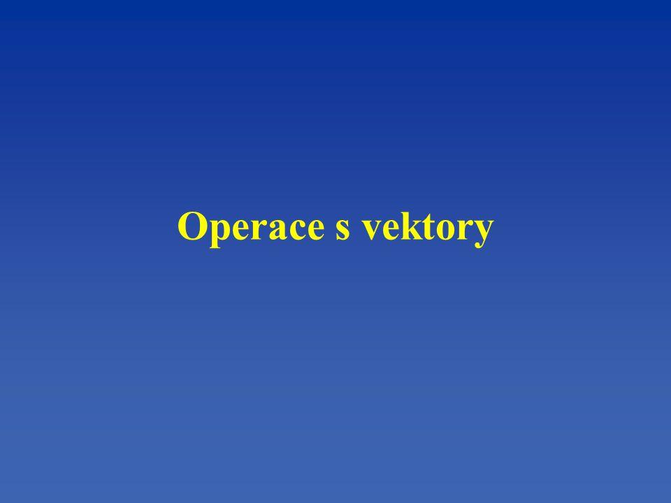 Operace s vektory