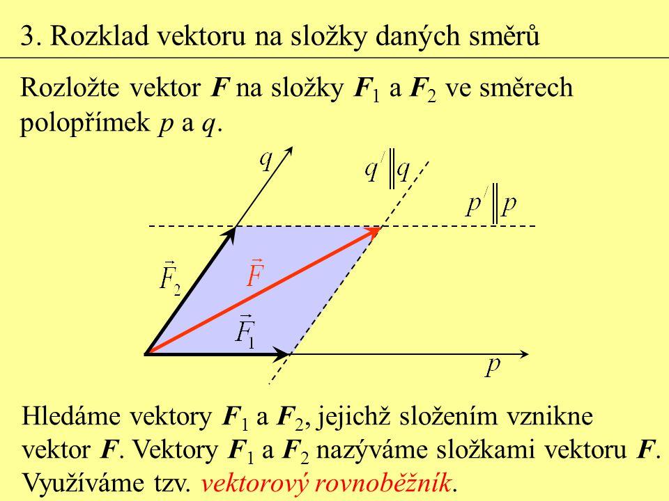 3. Rozklad vektoru na složky daných směrů