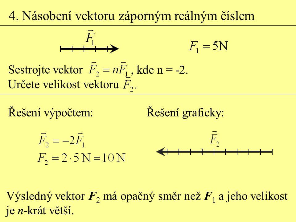4. Násobení vektoru záporným reálným číslem
