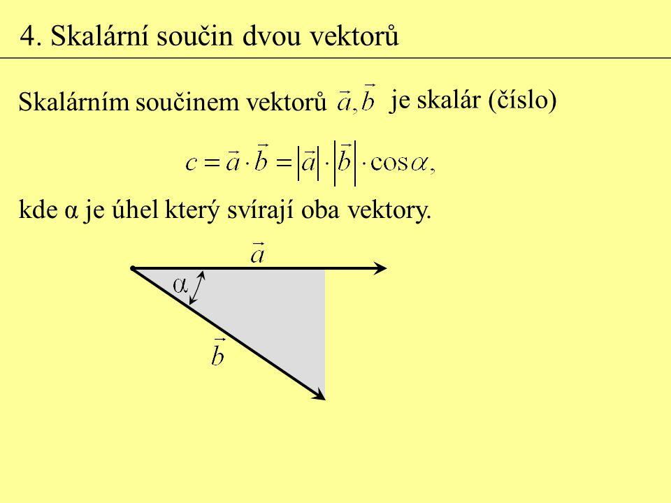 4. Skalární součin dvou vektorů