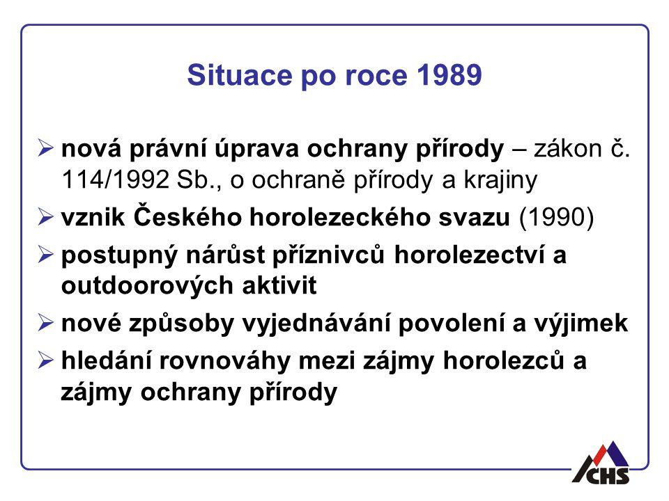 Situace po roce 1989 nová právní úprava ochrany přírody – zákon č. 114/1992 Sb., o ochraně přírody a krajiny.