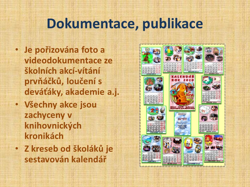 Dokumentace, publikace