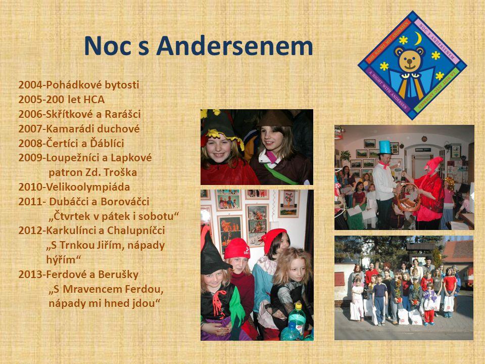 Noc s Andersenem 2004-Pohádkové bytosti 2005-200 let HCA