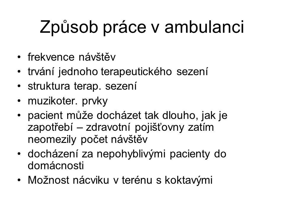 Způsob práce v ambulanci