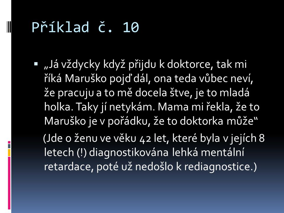 Příklad č. 10