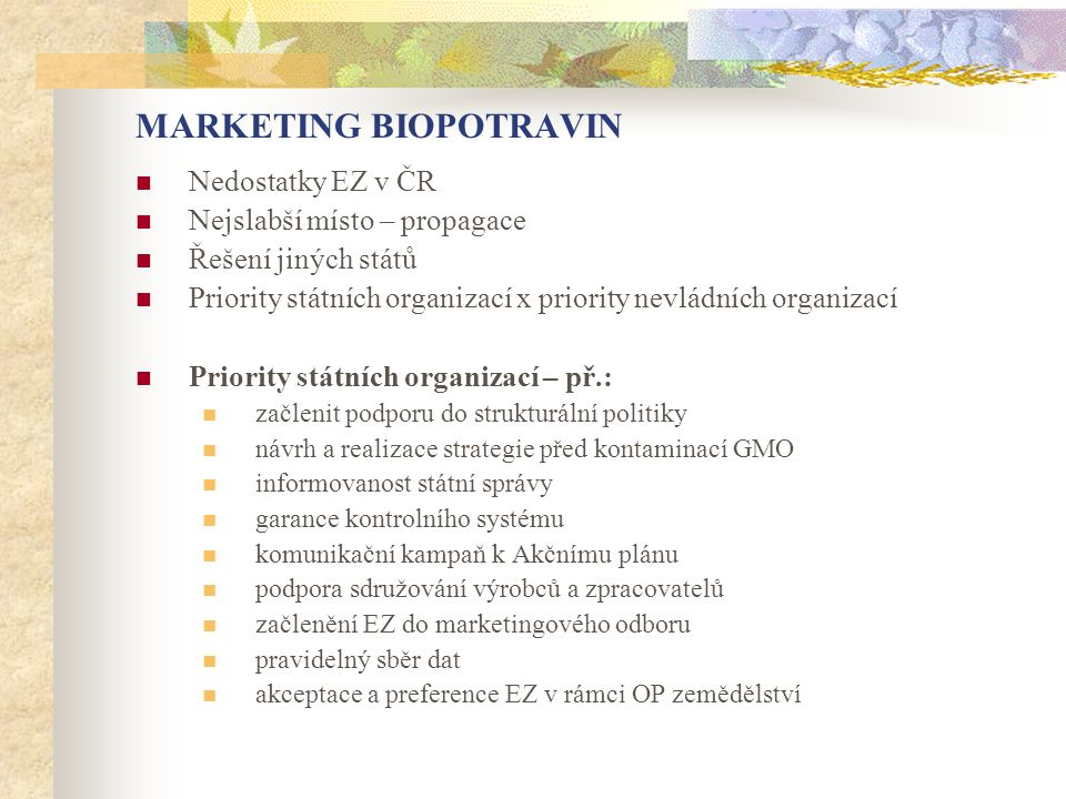 MARKETING BIOPOTRAVIN