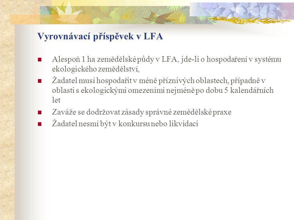 Vyrovnávací příspěvek v LFA