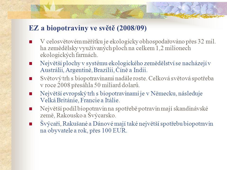 EZ a biopotraviny ve světě (2008/09)