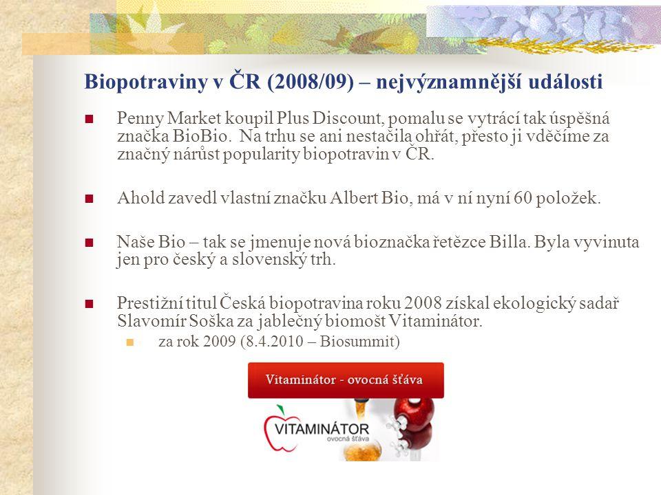 Biopotraviny v ČR (2008/09) – nejvýznamnější události