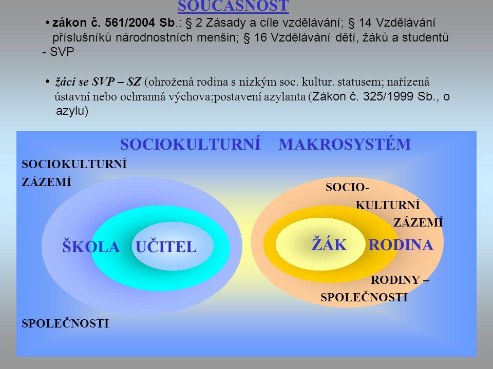 SOCIOKULTURNÍ MAKROSYSTÉM
