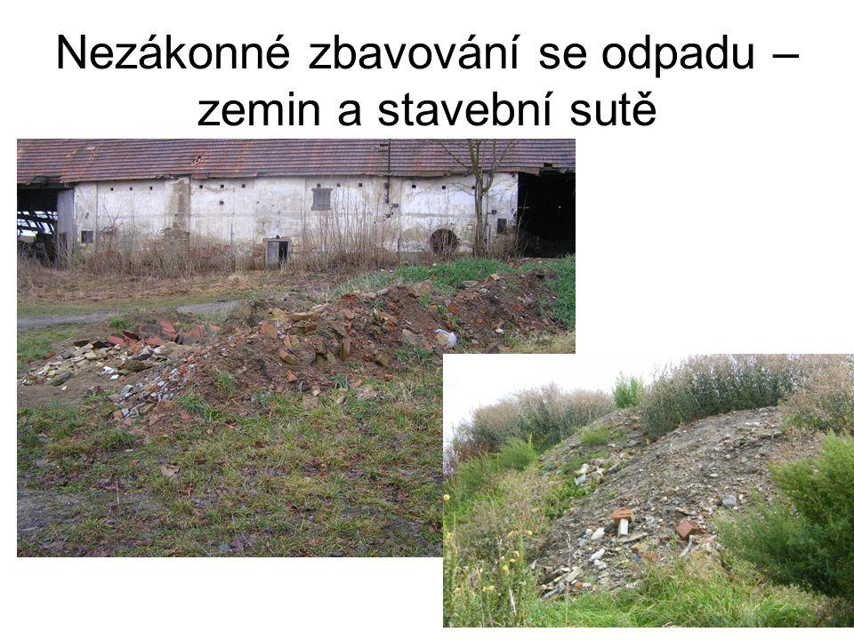 Nezákonné zbavování se odpadu – zemin a stavební sutě