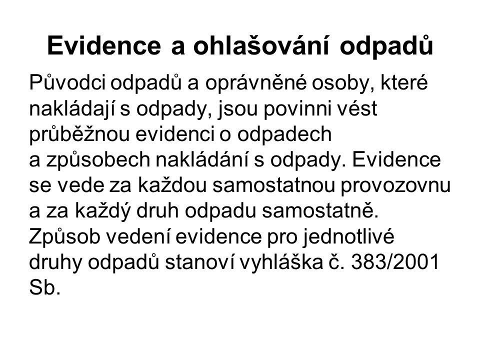 Evidence a ohlašování odpadů