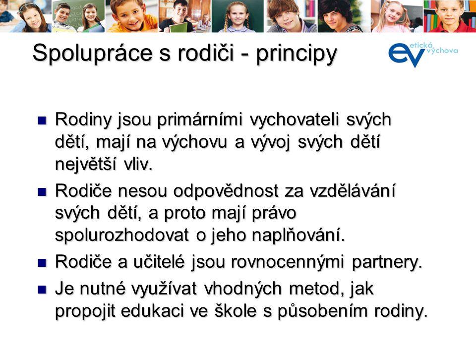 Spolupráce s rodiči - principy