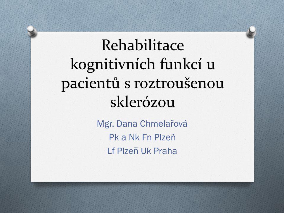 Rehabilitace kognitivních funkcí u pacientů s roztroušenou sklerózou