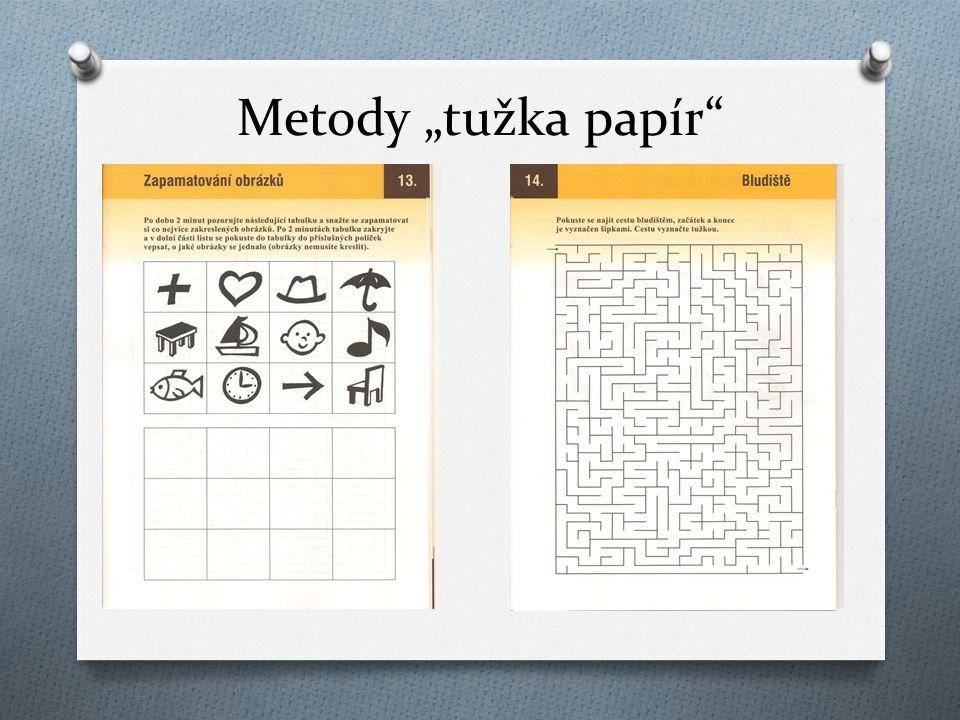 """Metody """"tužka papír"""