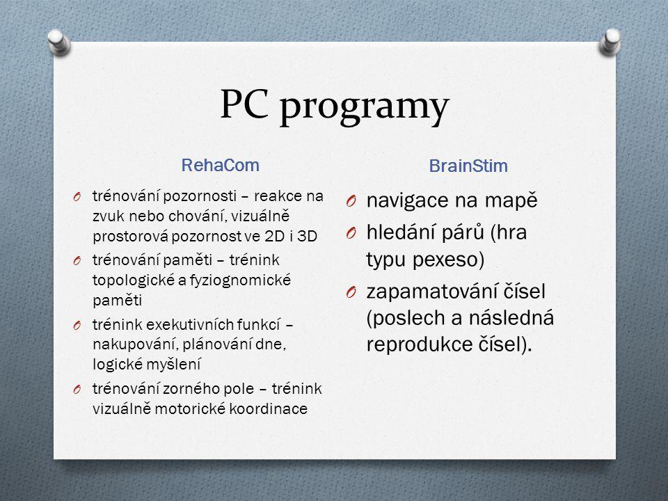 PC programy navigace na mapě hledání párů (hra typu pexeso)
