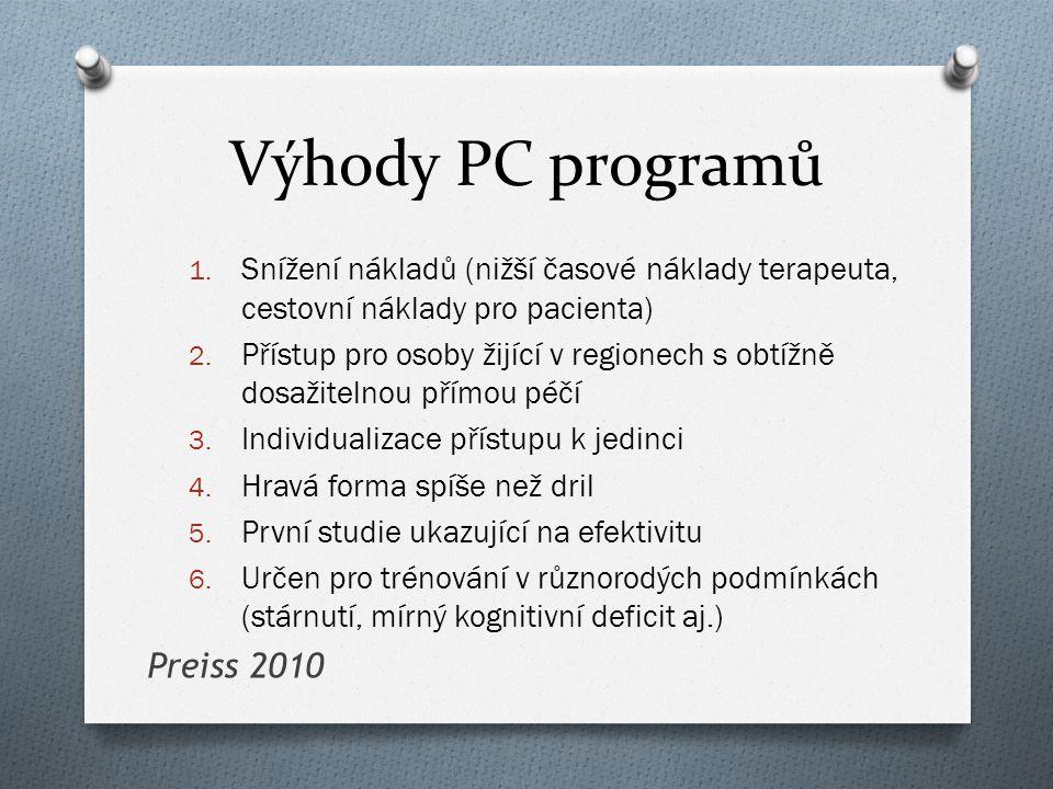 Výhody PC programů Preiss 2010