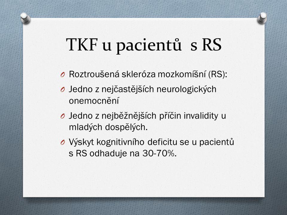 TKF u pacientů s RS Roztroušená skleróza mozkomíšní (RS):
