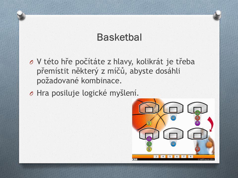 Basketbal V této hře počítáte z hlavy, kolikrát je třeba přemístit některý z míčů, abyste dosáhli požadované kombinace.