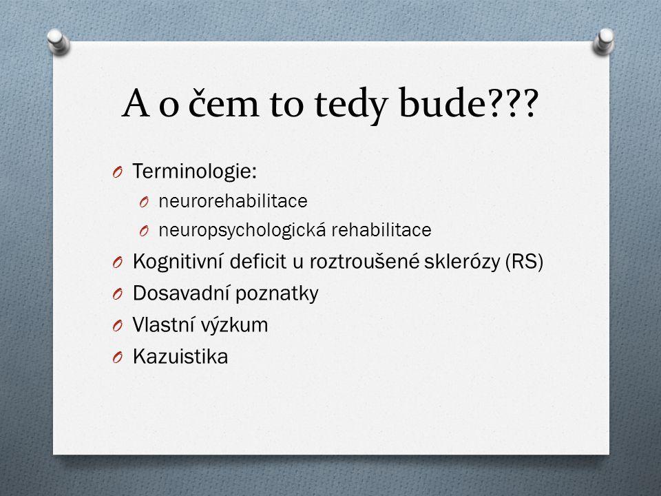 A o čem to tedy bude Terminologie: