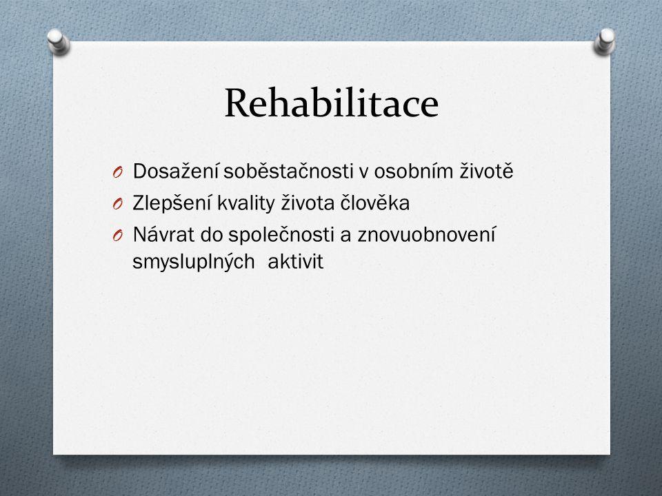 Rehabilitace Dosažení soběstačnosti v osobním životě