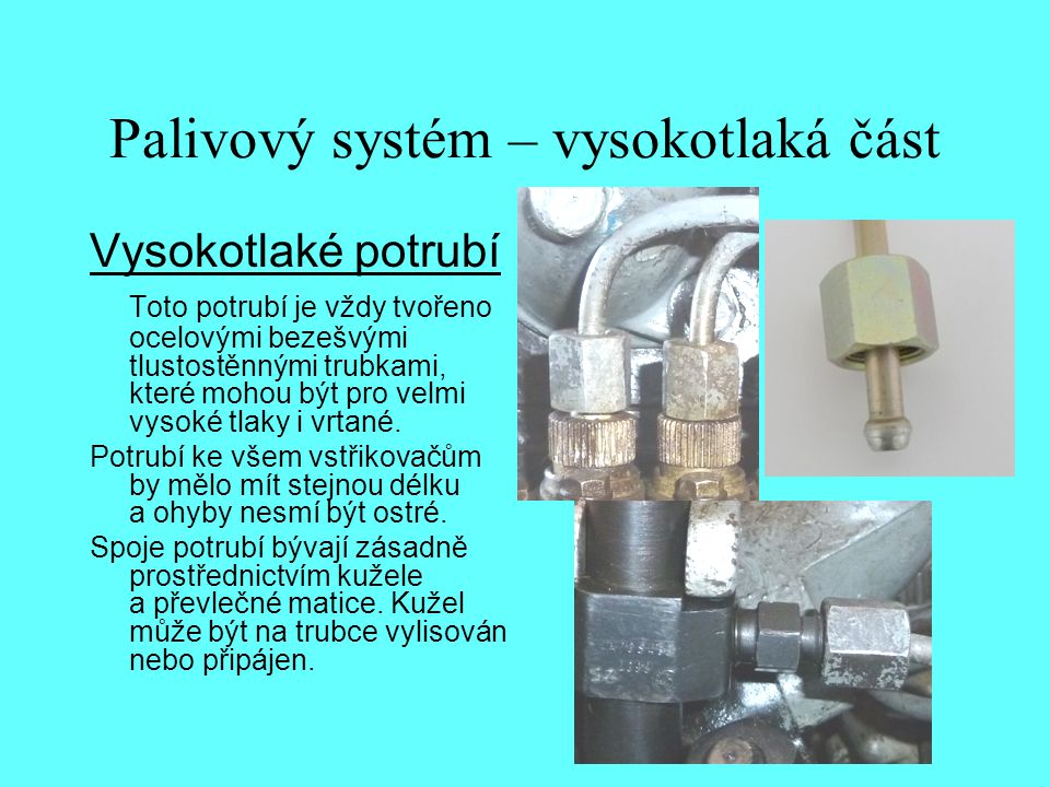 Palivový systém – vysokotlaká část
