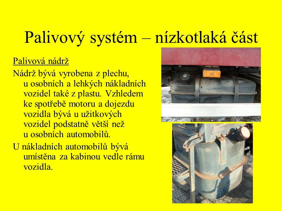 Palivový systém – nízkotlaká část