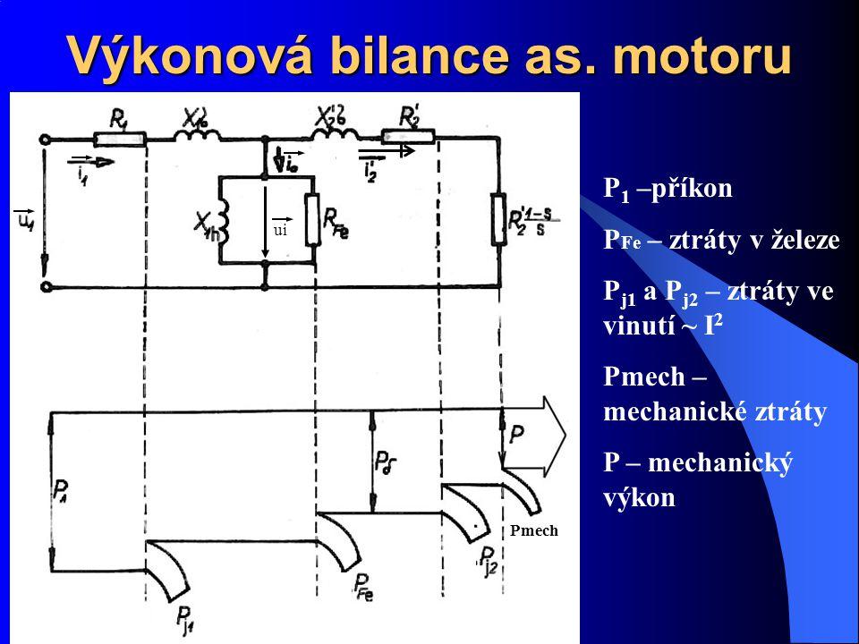 Výkonová bilance as. motoru