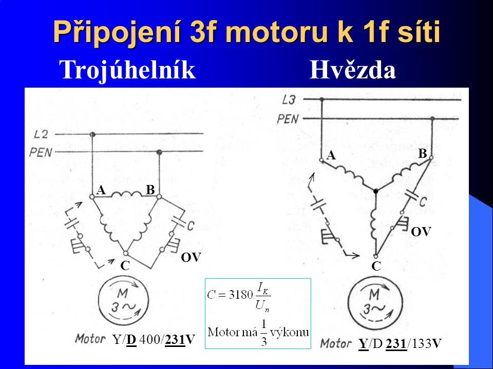 Připojení 3f motoru k 1f síti