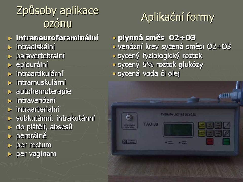 Způsoby aplikace ozónu