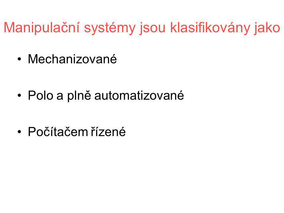 Manipulační systémy jsou klasifikovány jako
