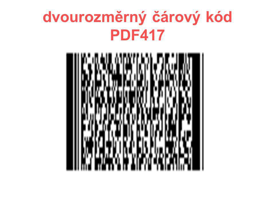 dvourozměrný čárový kód PDF417