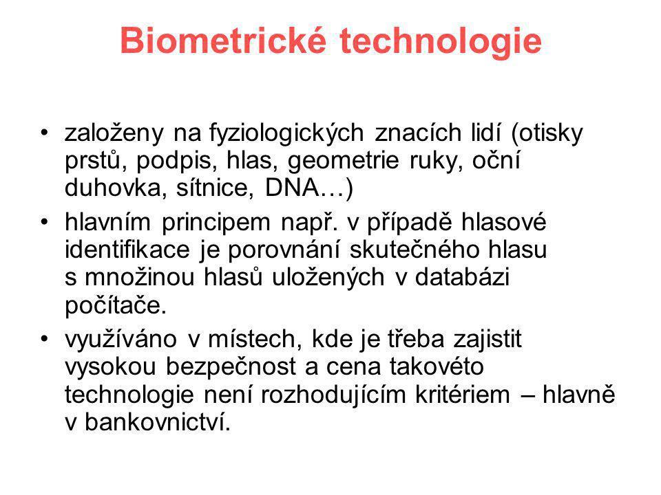 Biometrické technologie