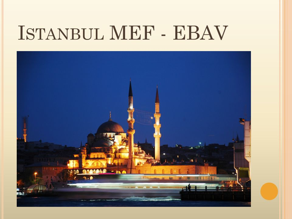 Istanbul MEF - EBAV