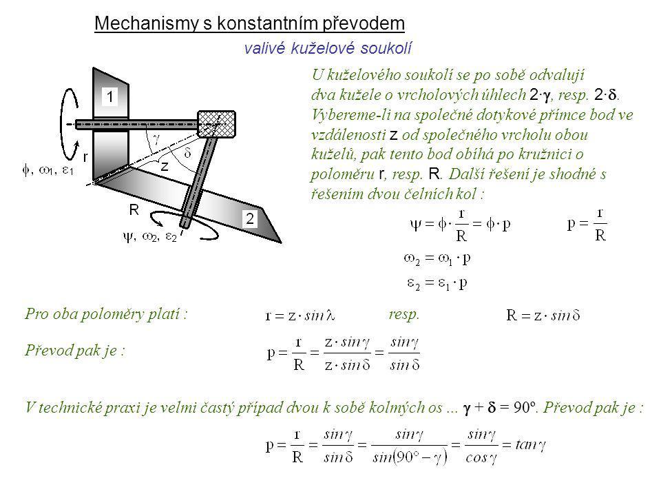 Mechanismy s konstantním převodem