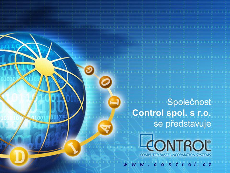 Společnost Control spol. s r.o. se představuje